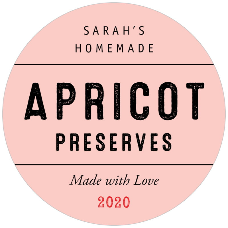 circle food/craft labels - rose quartz - apothecary neat (set of 20)