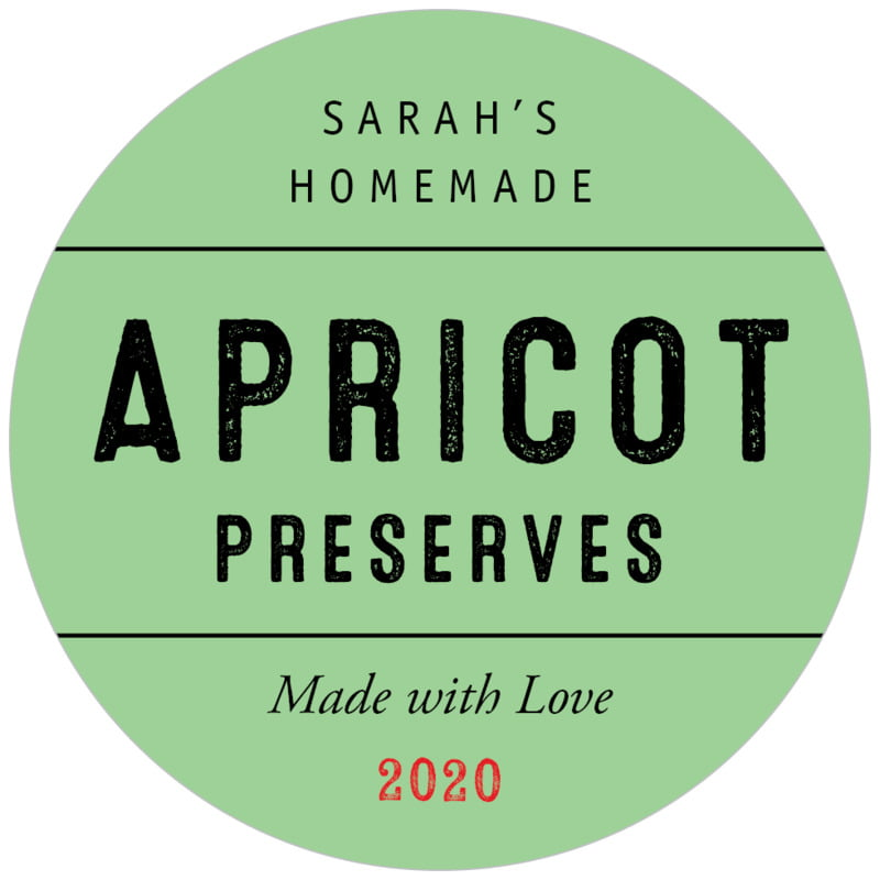circle food/craft labels - spring green - apothecary neat (set of 20)