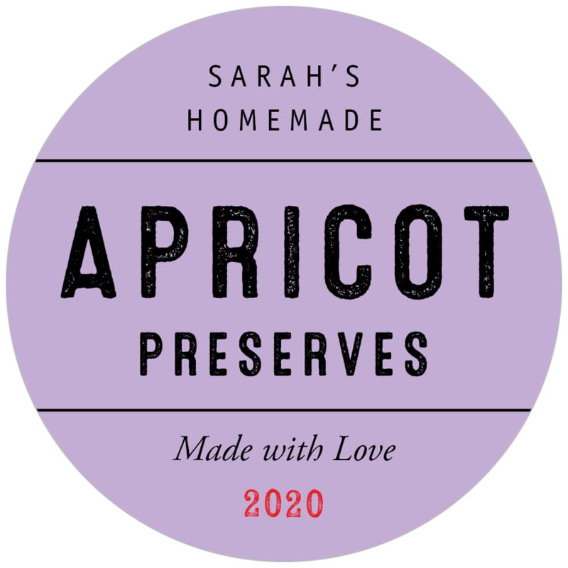 circle food/craft labels - lilac - apothecary neat (set of 20)