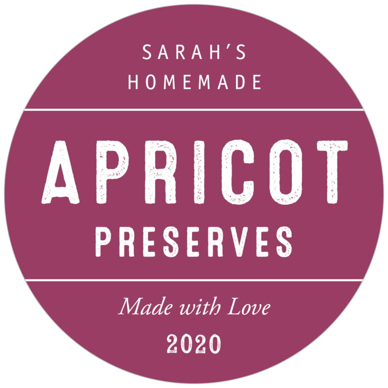 circle food/craft labels - burgundy - apothecary neat (set of 20)
