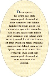Aunt Lorraine oval text labels