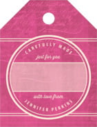 American Vintage small luggage gift tags