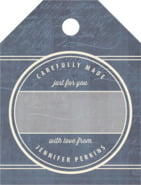 American Vintage Small Luggage Gift Tag In Deep Blue