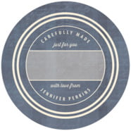 American Vintage Large Circle Gift Label In Deep Blue