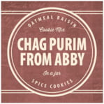 American Vintage purim labels