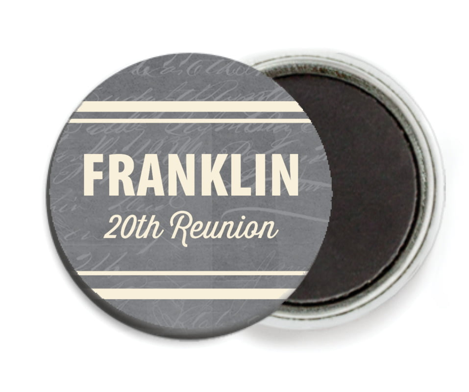 custom button magnets - charcoal - american vintage (set of 6)