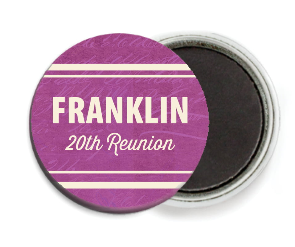 custom button magnets - radiant orchid - american vintage (set of 6)