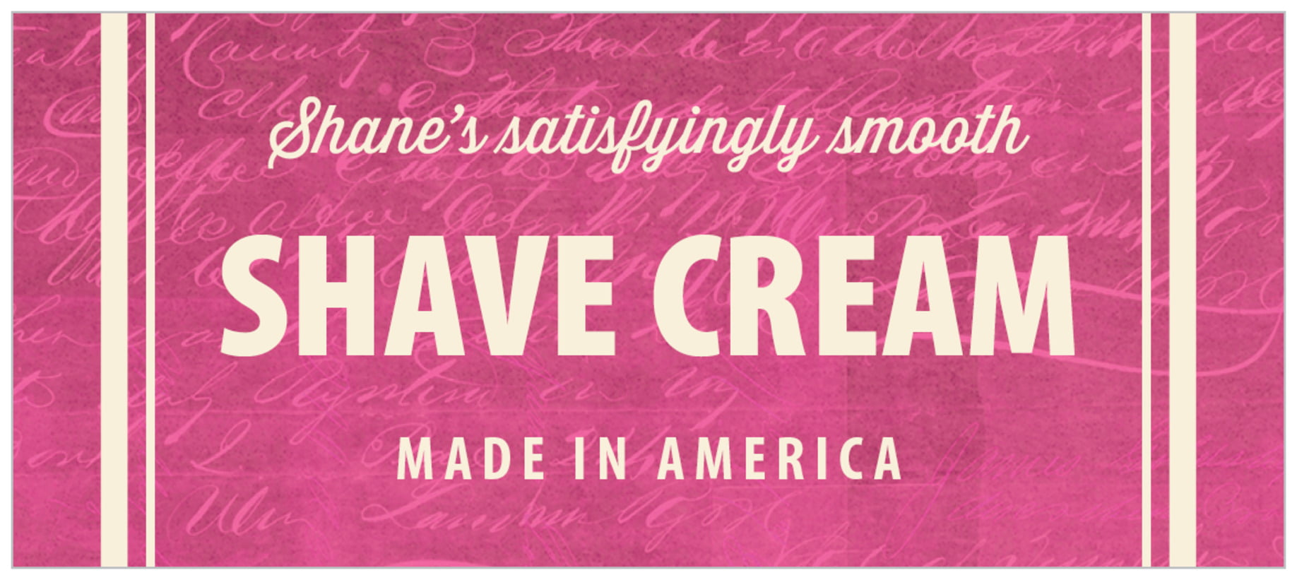 small rectangle food/craft labels - bright pink - american vintage (set of 24)