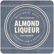 American Vintage Square Coaster In Deep Blue