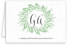 Aurelian Wreath Folding Card In Mint
