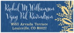 Aurelian Wreath Designer Address Label In Royal Blue