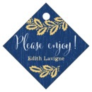 Aurelian Wreath Small Diamond Hang Tag In Royal Blue