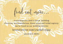 custom enclosure cards - pale gold - aurelian wreath (set of 10)