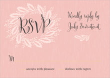 custom response cards - blush pink - aurelian wreath (set of 10)
