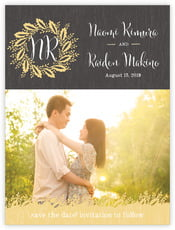Aurelian Wreath save the date cards