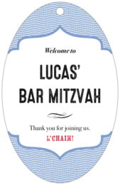 Apothecary Deluxe bar/bat mitzvah tags