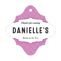 Apothecary Deluxe bridal shower tags