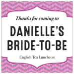 Apothecary Deluxe bridal shower labels