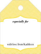 Apothecary Deluxe small luggage gift tags