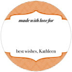 Apothecary Deluxe small circle gift labels