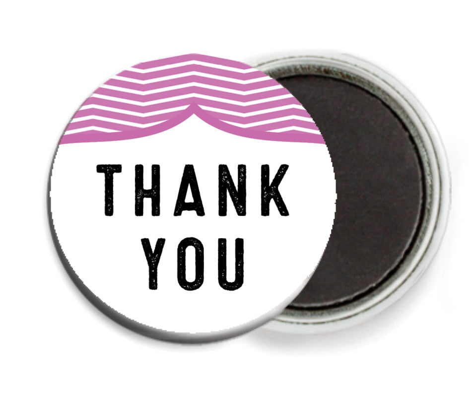 custom button magnets - radiant orchid - apothecary deluxe (set of 6)