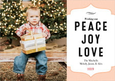 holiday cards - peach - apothecary deluxe (set of 10)