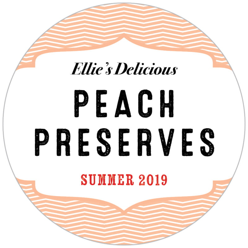 circle food/craft labels - peach - apothecary deluxe (set of 20)