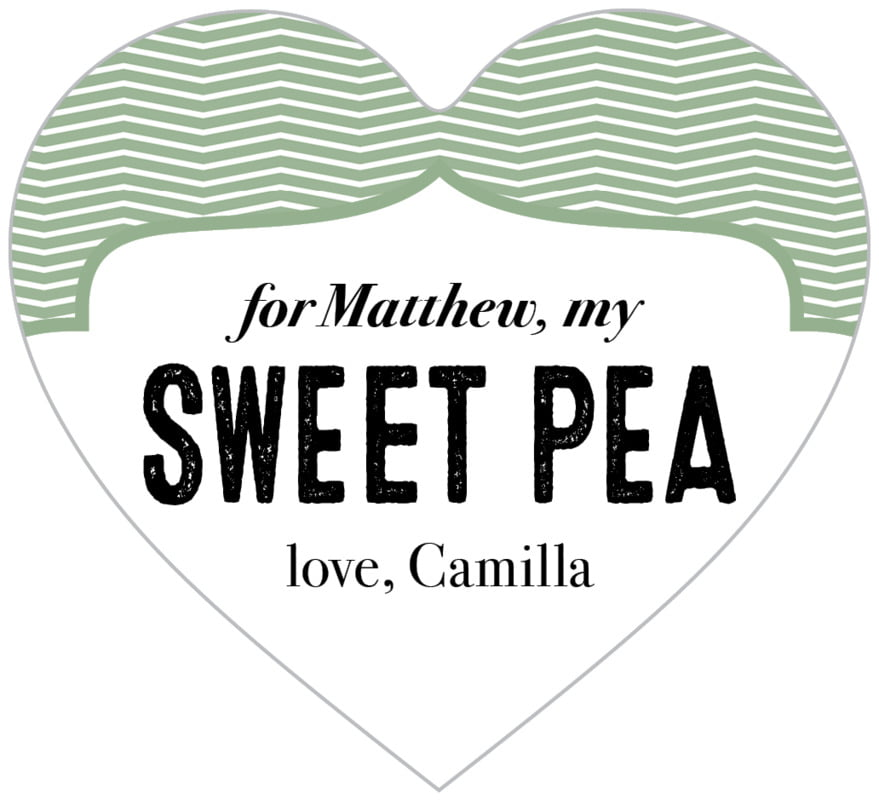 small heart food/craft labels - sage - apothecary deluxe (set of 20)