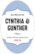 Apothecary Deluxe wedding beer labels