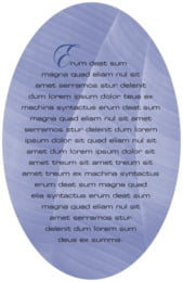 Bali oval text labels