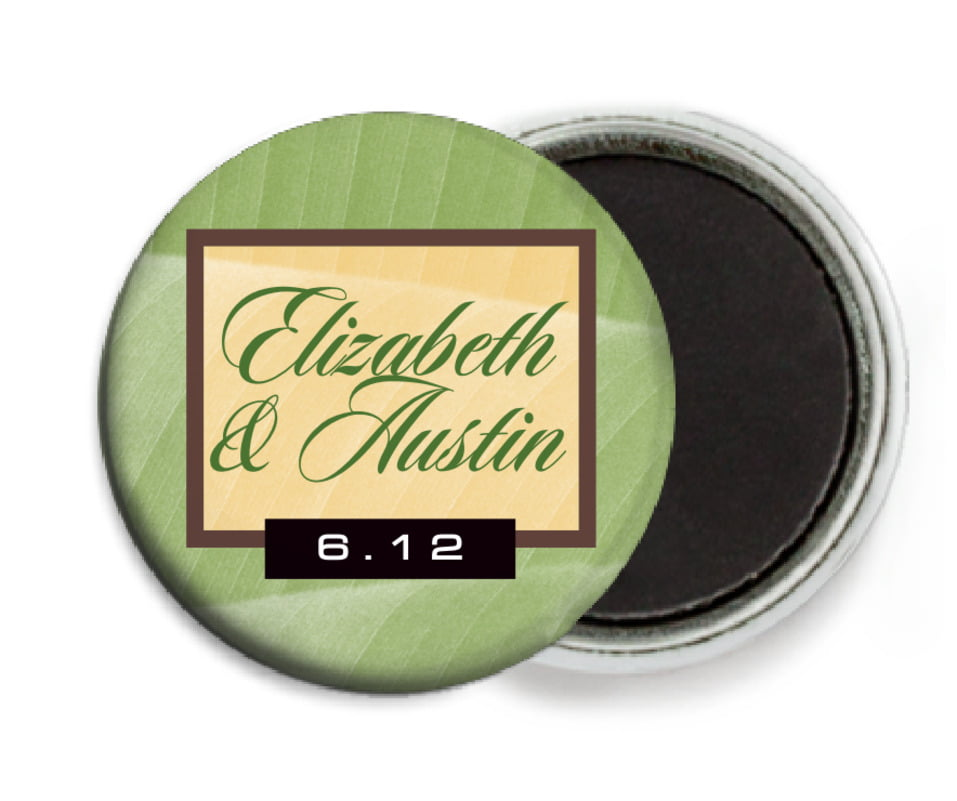 custom button magnets - sage - bali (set of 6)