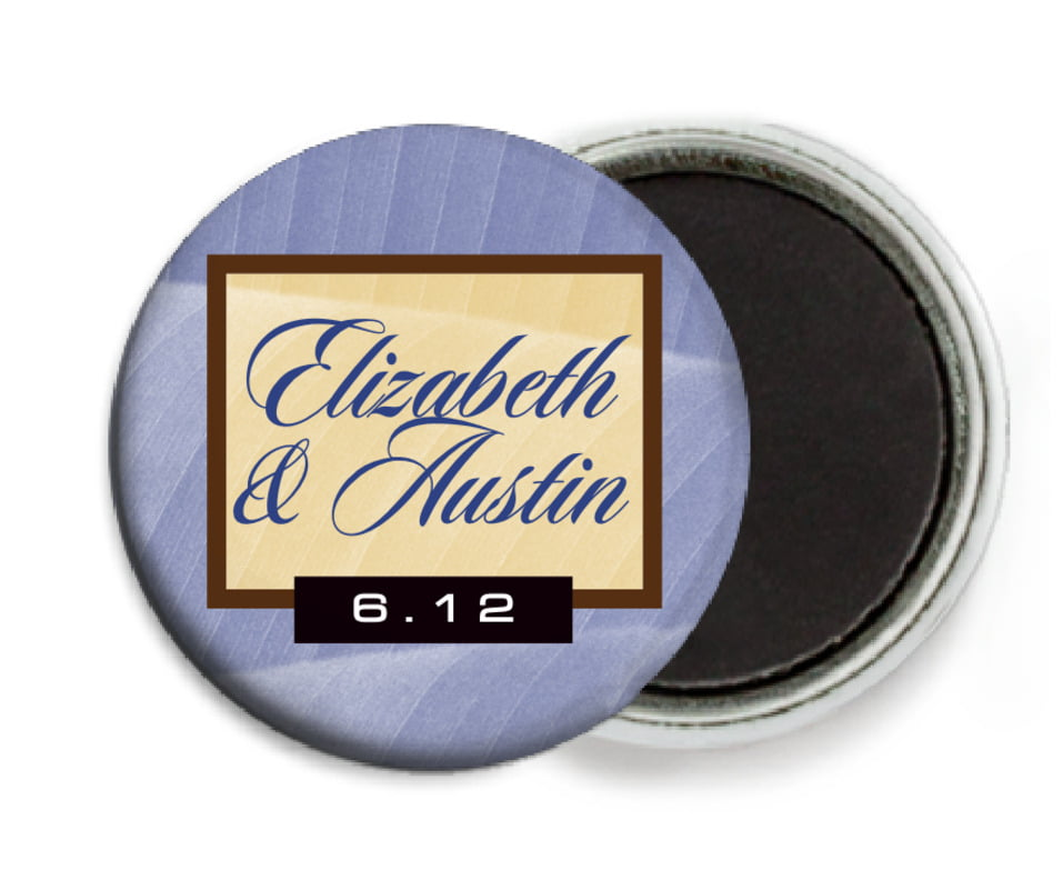 custom button magnets - periwinkle - bali (set of 6)