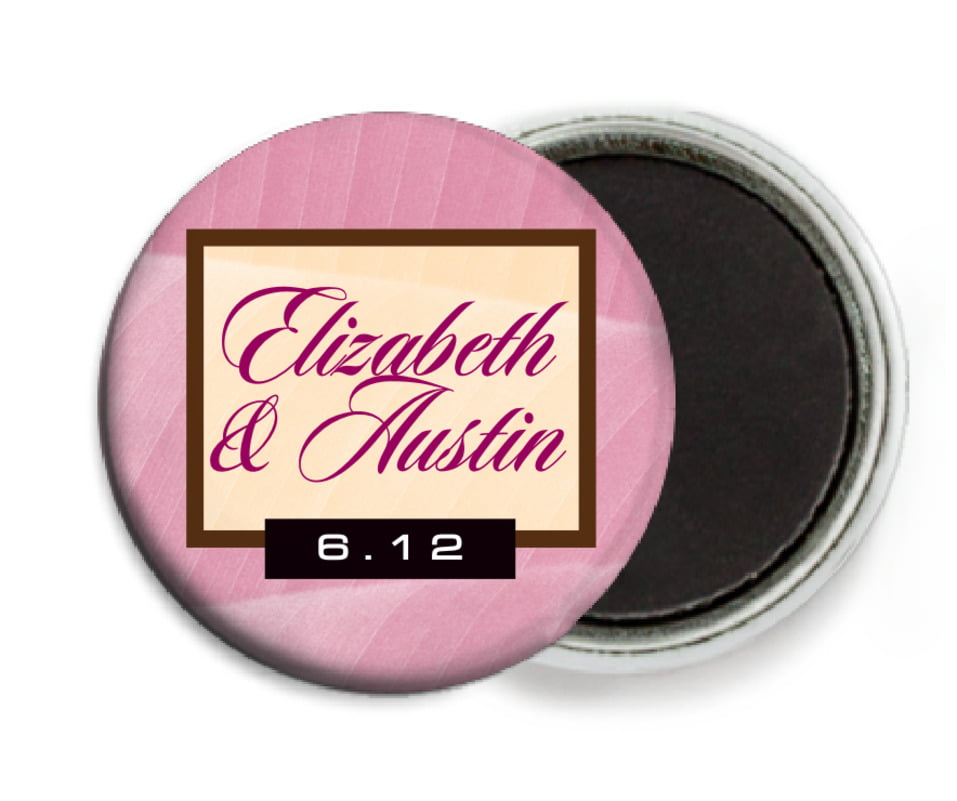 custom button magnets - pale pink - bali (set of 6)