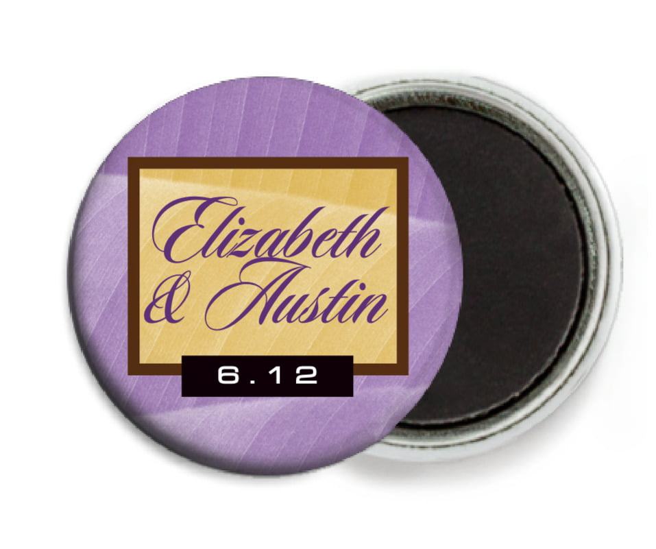 custom button magnets - lilac - bali (set of 6)