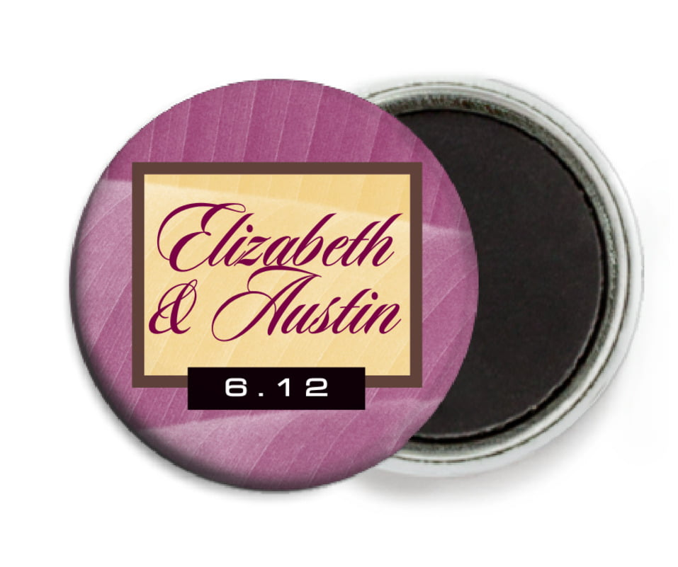 custom button magnets - burgundy - bali (set of 6)