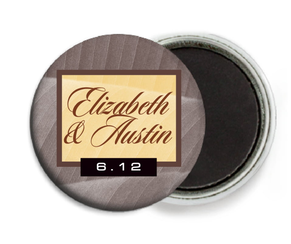 custom button magnets - chocolate - bali (set of 6)