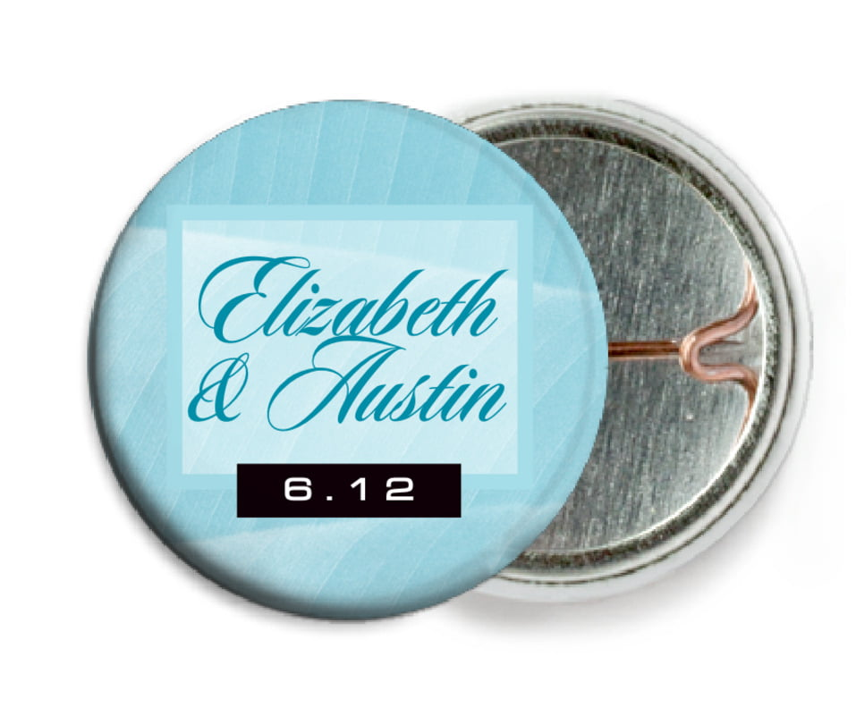 custom pin back buttons - bahama blue - bali (set of 6)