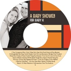 Boxicle baby shower CD/DVD labels