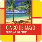 Boxicle cinco de mayo coasters