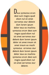 Boxicle oval text labels