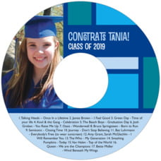 Boxicle graduation CD/DVD labels