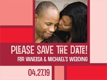 custom save-the-date cards - red - boxicle (set of 10)