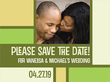 custom save-the-date cards - green - boxicle (set of 10)