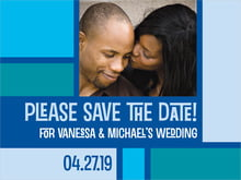 custom save-the-date cards - blue - boxicle (set of 10)