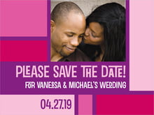custom save-the-date cards - bright pink - boxicle (set of 10)