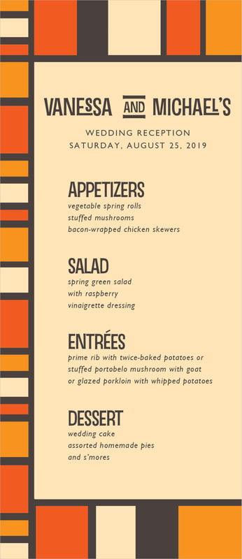 custom menus - spice - boxicle (set of 10)
