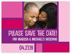 Boxicle save the date cards