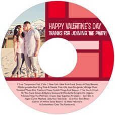 Boxicle valentine's day CD/DVD labels
