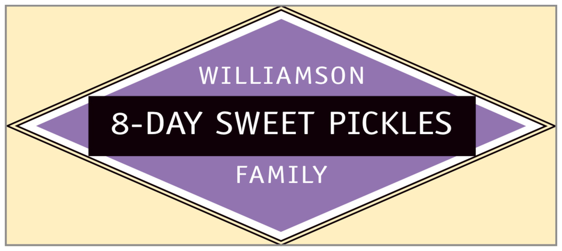 small rectangle food/craft labels - purple - bentley (set of 24)