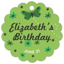 Butterfly kid/teen birthday tags